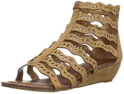Carlos by Carlos Santana Women's Kitt Flat Sandal, Brulee, 7 Medium US (Carlos Santana Ankle Strap Sandals)