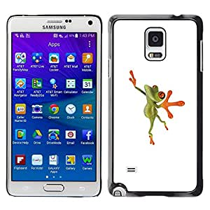 LECELL--Funda protectora / Cubierta / Piel For Samsung Galaxy Note 4 SM-N910 -- Ballerina Dancer Frog Happy --