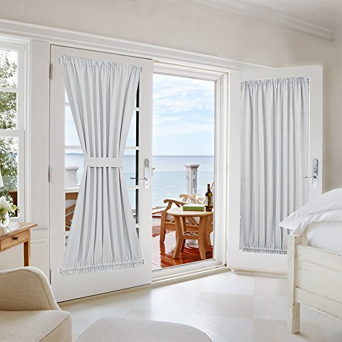 Door Panel Drapes (NICETOWN Room Darkening Patio Door Panel - Room Darkening French Door Thermal Blackout Curtain/Drape/Drapery (54