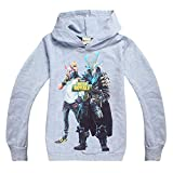 Kids Necessaries Fortnite Hoodies Youth Gaming Unisex Top Sweaters Jumper Long Sleeve Jackets for Boys and Girls (Fortnite-FBR-GR, Age:12-13Y/160)