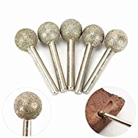 Spherical Diamond Coated Grinding Head Drill Bits Rotary Tools for Sculpturing, Dressing, Precision Grinding and Internal Grinding