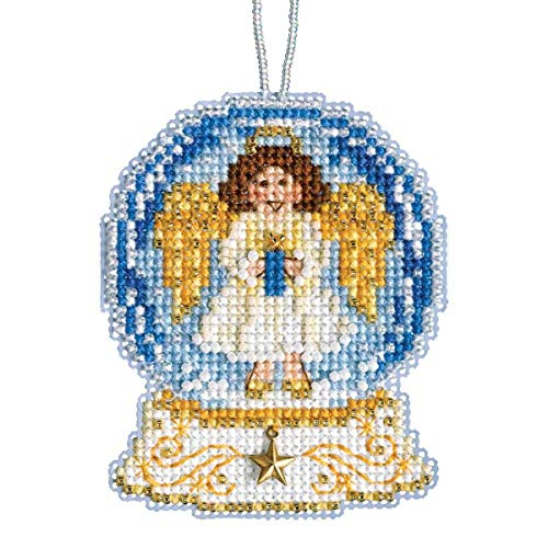 Angel Snow Globe Beaded Counted Cross Stitch Charmed Ornament Kit Mill Hill 2019 Snow Globes MH161935