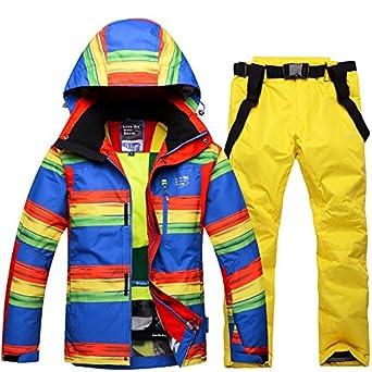 YFF Chaqueta de esquí Exterior + Pantalones cálido Invierno ...