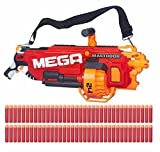 Nerf N-Strike MEGA Mastodon Blaster with 24 dart drum and 72 MEGA Whistler Darts 100 ft Shooting Distance by Mege