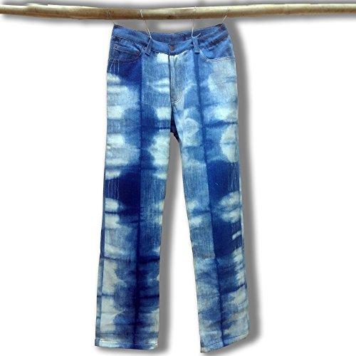 Denim Club India Hand-crafted Khadi Denim Jeans - Tie & Dye by India Handloom Store