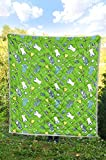 LoveofSky Golf Colorful Seamless Quilt Super King