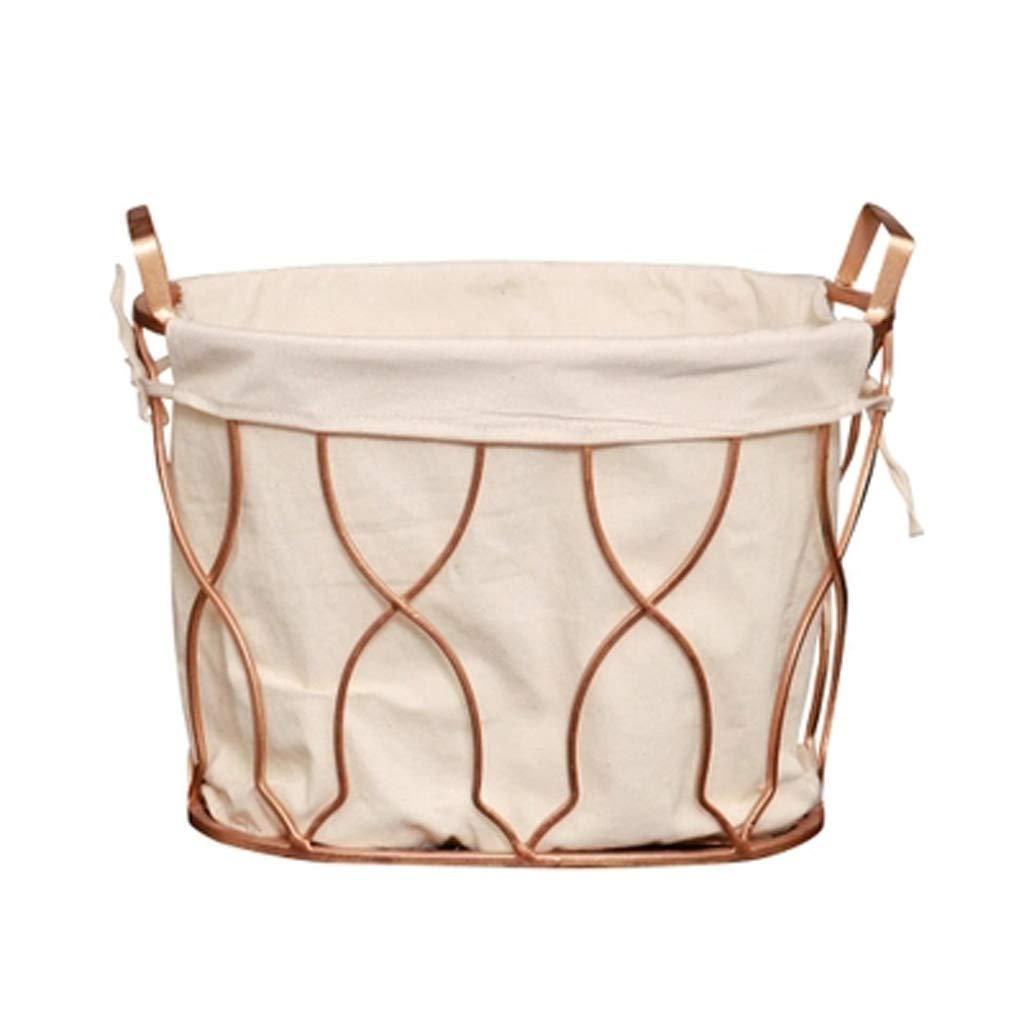 鍛鉄製の収納バスケットの収納バスケット簡単な人格の収納ボックスのファブリックの収納バスケット、オプションのサイズ JSFQ (Size : 42*35*35cm) B07SNQY712  42*35*35cm