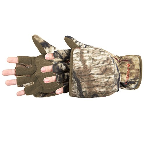 Manzella Productions 012893 Mens Bowhunter Convertible Glove, Mossy Oak, Large