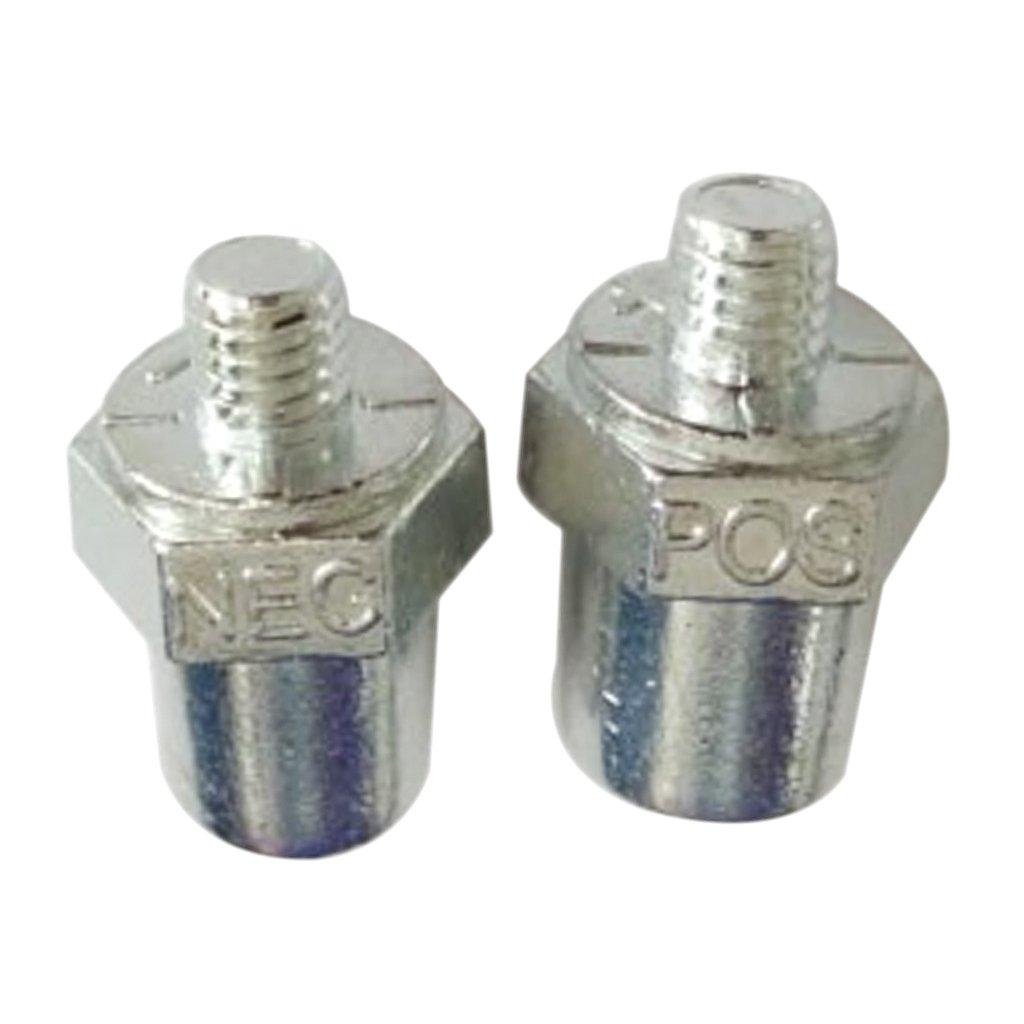 Sharplace 2 Pezzi Positivo Negativo Batteria Per Auto Terminal Morsetto Connettore Clip Dargento