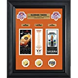NCAA Clemson Tigers Highland 2016 Football National Champions Deluxe Gold Coin Ticket Collection, Black