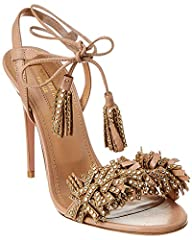 Made in Italy. Color/material: nude leather. Design details: gold-tone hardware. Lightly padded leather insole. Smooth leather sole. 4in heel. Please note: All measurements are approximate and were taken from a size 37; slight variations may ...