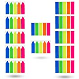 Antner 12 Sets Neon Page Markers Colored Index Tabs Flags Sticky Notes for Page Marker, 1200 Pieces