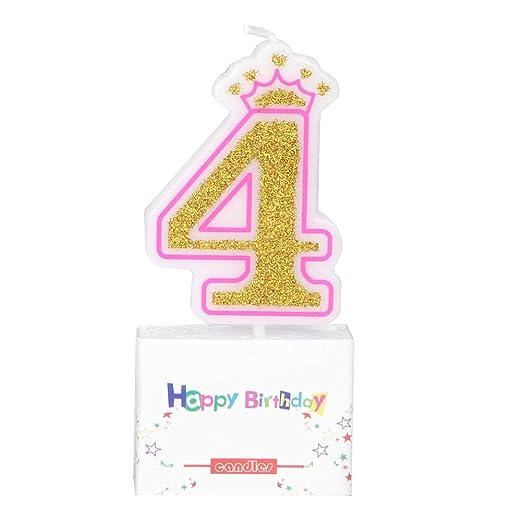Furnoor - Vela de cumpleaños para niña, diseño de Corona sin ...