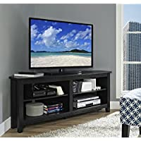Tv Stand Black Flat Screens Up To 60 Inch Wood Premium Low Entertainment Center Corner