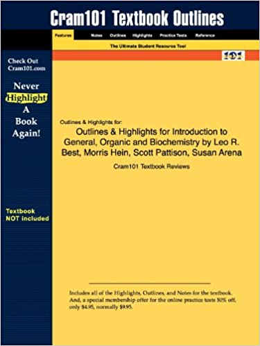 Outlines highlights for introduction to general organic and outlines highlights for introduction to general organic and biochemistry by leo r best fandeluxe Images