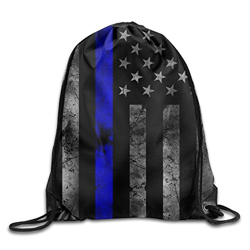 Red, White And Blue Thin Blue Line American Flag Poster2 For Gym Cinch - Usa Shoping