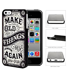 MMZ DIY PHONE CASEMake Old Things New Again Western Script Hard Plastic Snap On Cell Phone Case Apple iphone 5c