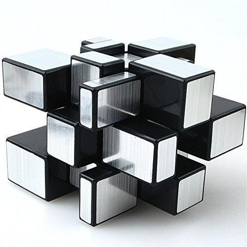 Ahyuan Dysmorphism 3x3x3 Mirror Magic Cube Speed Silver 3D Puzzle ()