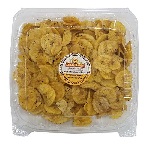 MADE FRESHLY IN USA – Sukhadia's Indian Snacks, Black Pepper Banana Chips, 16oz