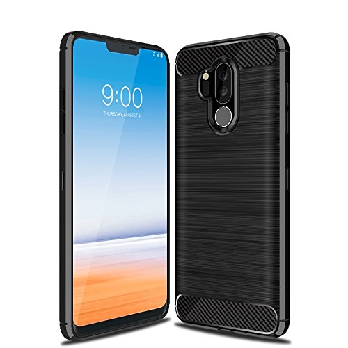 cheap for discount 77847 295d5 LG G7 Case, LG G7 ThinQ Case, Cruzerlite Carbon Fiber Shock Absorption Slim  Flexible Case for LG G7/ LG G7 ThinQ (Black)