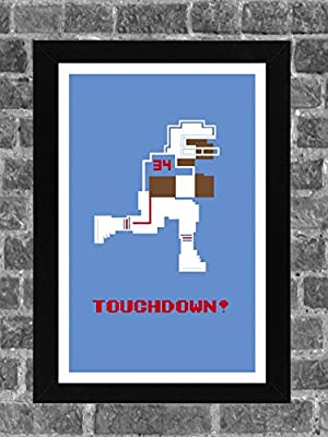 Houston Oilers Earl Campbell Tecmo Bowl Sports Print Art 11x17