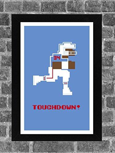 Houston Oilers Earl Campbell Tecmo Bowl Sports Print Art 11x17