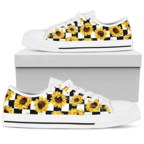 R Malone Sunflower Caro Low Top Shoes Idea Gift For Girl Who Love Sun Flower