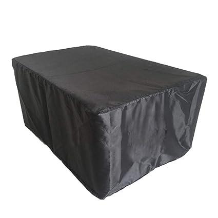 Carpa gruesa y resistente Carpa exterior Cubierta exterior impermeable niture Jardín bosque Mesa giratoria y silla cubierta de polvo (Color : Negro-135x135x75cm): Amazon.es: Coche y moto