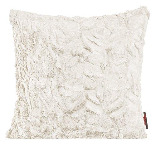 Magma Kissen Fluffy Plüsch Felloptik ca. 45x45cm vers. Farben (beige)