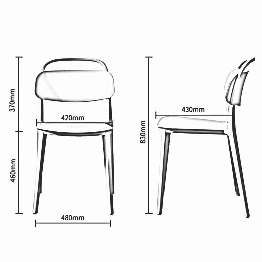 JIEER-C Fritidsstolar matstol modern minimalistisk plaststol vuxen nordisk fritid ryggstöd stol restaurang kreativt hushåll hållbar stark BLÅ