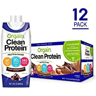 Orgain Grass Fed Protein Shake, Creamy Chocolate Fudge, Gluten Free, Kosher, Non-GMO, 11 Ounce, 12 Count
