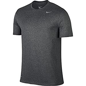 NIKE Men's Dry Legend 2 Tee, Charcoal Heather/Matte Silver, X-Large