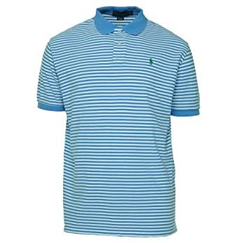 Polo Ralph Lauren Men\u0027s Custom Fit Thin Striped Mesh Polo