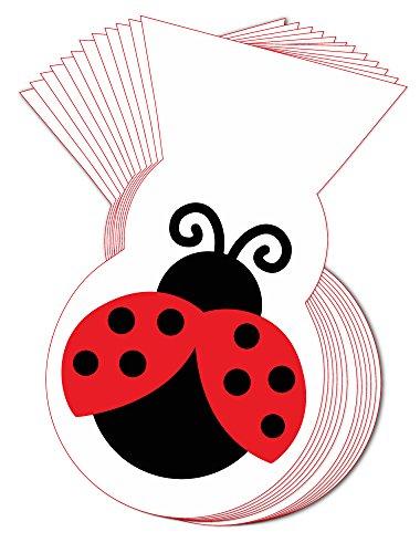 Ladybug Fancy Shaped Cello Treat Bag 24pk