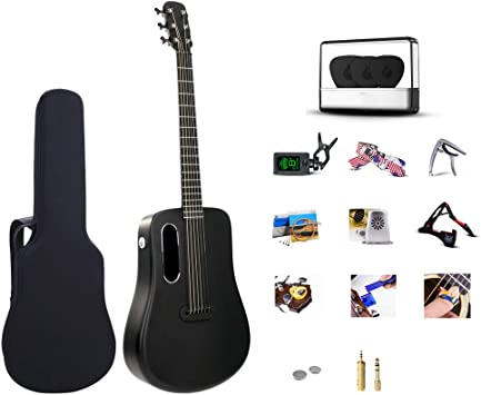 HBIAO Kit de correa de guitarra acústica para principiantes, fibra ...