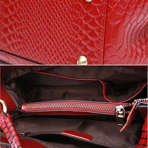 Sac Bag À Et Européen Style PU D'épaule Red Sac Main Dames Sac Messenger Femmes Américain Grand Lxf20 Sac waqfP7AWx