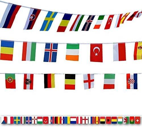 200 banderas de países diferentes, banderas internacionales del mundo, Guirnalda de Banderas para Bar,decoración de fiesta(14 cm x 21 cm): Amazon.es: Hogar