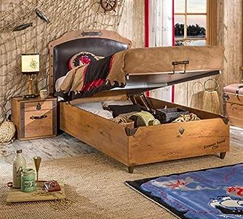 Amazonde Cilek Black Pirate Bett Mit Bettkasten 100x200