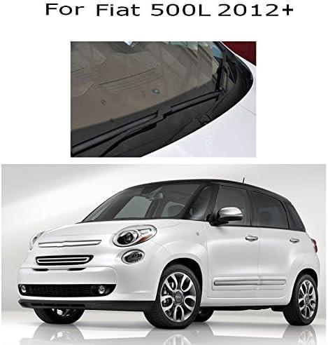 essuie-Glaces Avant et arri/ère dessuie-Glace Ensemble Pare-Brise fen/être 26+15 12 SLONGK pour Fiat 500L 2012 2013 2014 2015 2016 2017