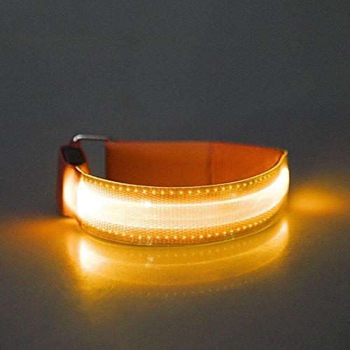 Forfar Braccialetto di incandescenza, LED Slap Band, Bracciale Glow nell'oscurità