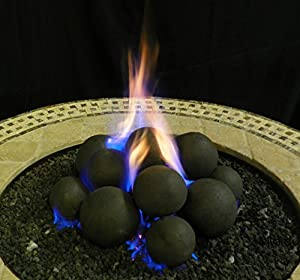 Amazon Com Myard 14 Cannonball Fire Stones Log Set For