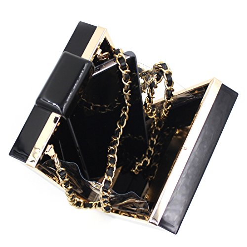 Clutch Banquet Purses Acrylic Handbag Black Vintage Perfume Evening Bags Shape 0WARw4RXqf