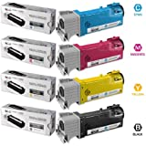 LD © Compatible Dell 1320/1320c Set of 4 High Yield Toner Cartridges: 1 Black KU052, Cyan KU053, Magenta KU055, and Yellow KU054