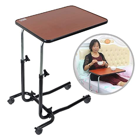 Excellent Hlduyin Portable Overbed Chair Table Tilting Adjustable Ocoug Best Dining Table And Chair Ideas Images Ocougorg