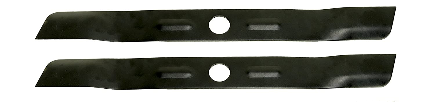 USA Mower Blades (2 BD18BP Low Lift Mulching Blade Replaces Black and Decker 90548199 Length 17 1/2in. Width 1 3/4in. Thickness .150in. Center Hole 1in.