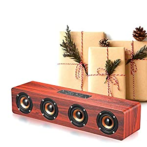 Live Tech Jalsa Wireless Wooden Speaker with Powerful Sound BS02 (Nut Brown)