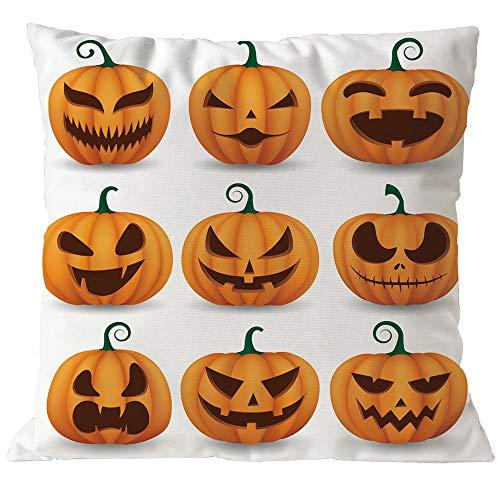 Clearance! Happy Halloween Pumpkin Throw Pillow Cover Cushion Case Home Decor Sofa Couch 18