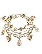 Creative Fashion Metal Love Hollow Ball Multi-layer Chain Bracelet