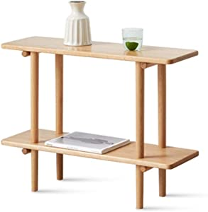 Coffee Tables WFF 2-Storey Storage Table, All Solid Wood Furniture, Living Room, Minimalist Design