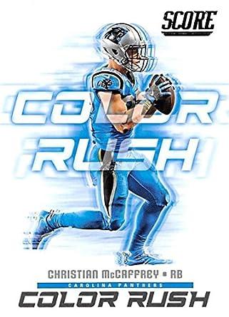 2018 Score Color Rush  8 Christian McCaffrey Carolina Panthers Football Card b9dce7dab